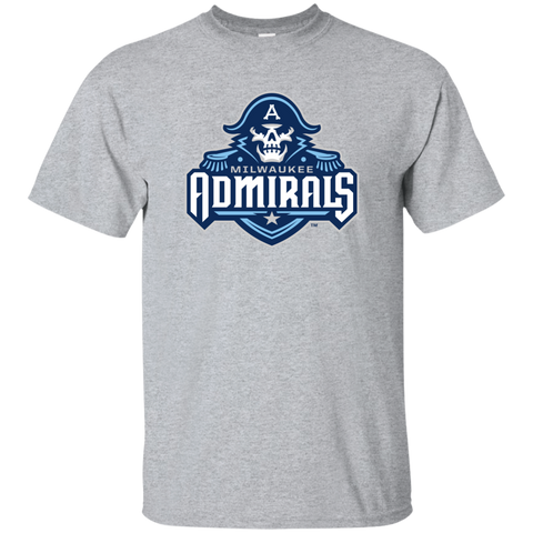 Milwaukee Admirals Primary Logo Adult Short Sleeve T-Shirt