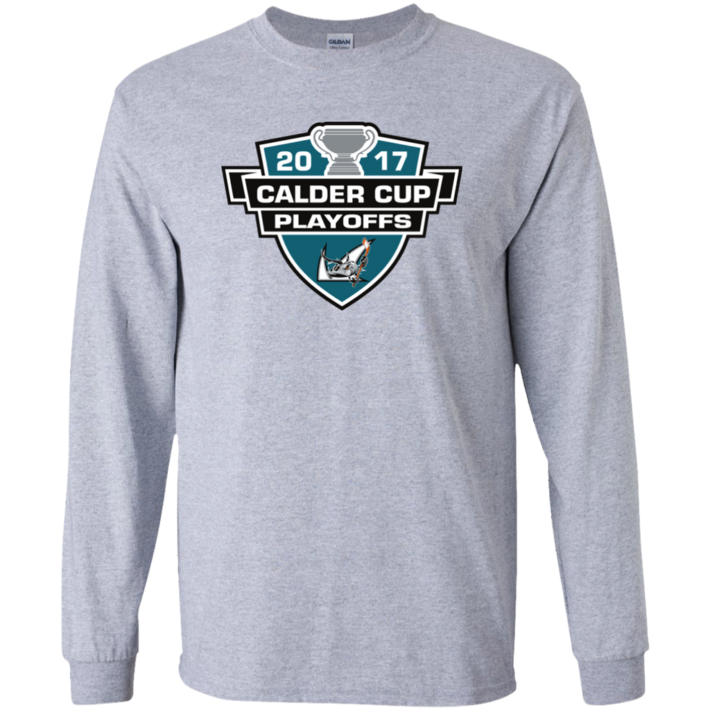 San Jose Barracuda Adult 2017 Calder Cup Playoffs Long Sleeve T-Shirt