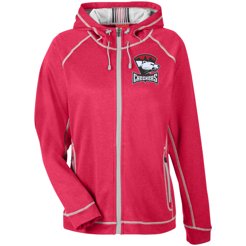 Charlotte Checkers Team 365 Ladies Heather Performance Hooded Jacket