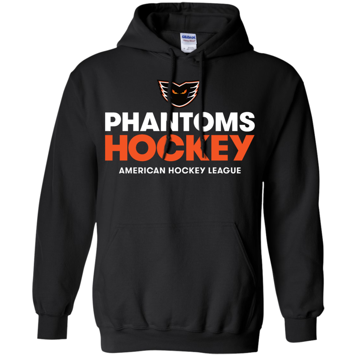 Lehigh Valley Phantoms Hockey Adult Pullover Hoodie  Black