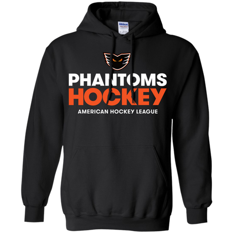 Lehigh Valley Phantoms Hockey Adult Pullover Hoodie (Black)