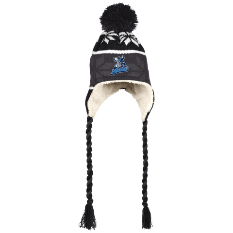 Manitoba Moose Hat with Ear Flaps and Braids