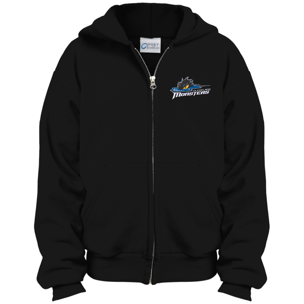Cleveland Monsters Youth Embroidered Full Zip Hoodie