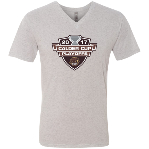 Hershey Bears 2017 Calder Cup Playoffs Men's Next Level Triblend V-Neck Tee