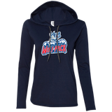 Hartford Wolf Pack Primary Logo Ladies Long Sleeve T-Shirt Hoodie