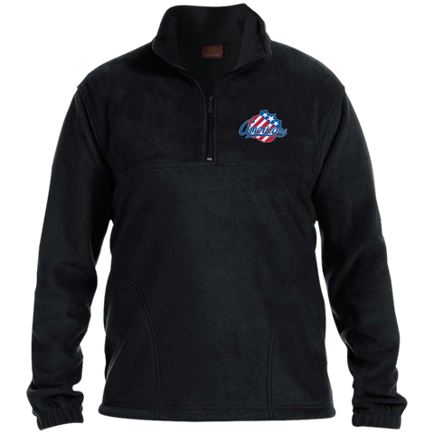 Rochester Americans Adult Embroidered 1/4 Zip Fleece Pullover