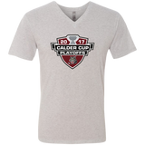 Chicago Wolves 2017 Calder Cup Playoffs Men's Next Level Triblend V-Neck Tee