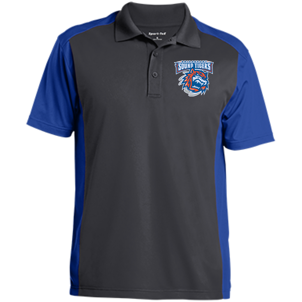 Bridgeport Sound Tigers Men's Colorblock Sport-Wick Polo