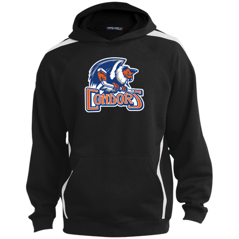 Bakersfield Condors Primary Logo Youth Sleeve Stripe Hooded Pullover