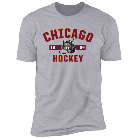 Chicago Wolves Adult Established Next Level Premium Short Sleeve T-Shirt