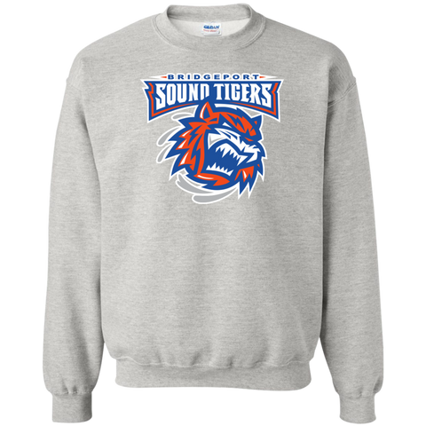 Bridgeport Sound Tigers Primary Logo Adult Crewneck Pullover Sweatshirt
