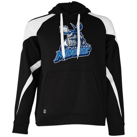c331c8592c0 Manitoba Moose Primary Logo Adult Colorblock Hoodie