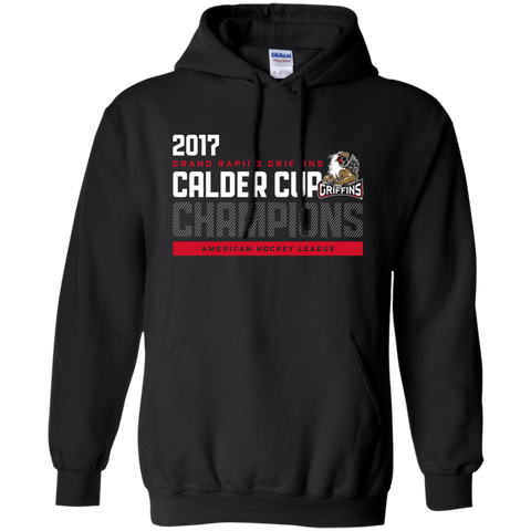 Grand Rapids Griffins 2017 Calder Cup Champions Athletic Adult Pullover Hoodie (black)
