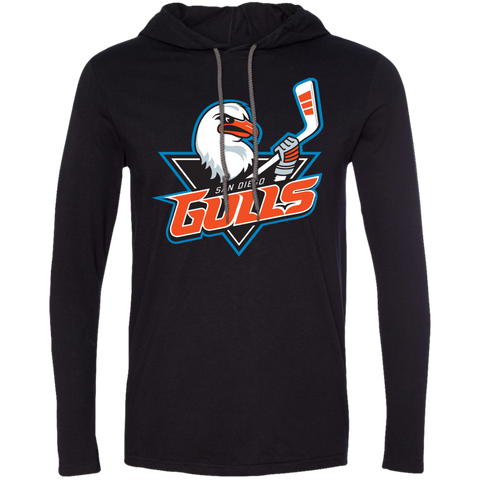 San Diego Gulls Primary Logo Adult Long Sleeve T-Shirt Hoodie