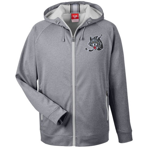 Chicago Wolves Team 365 Men's Heathered Performance Hooded Jacket