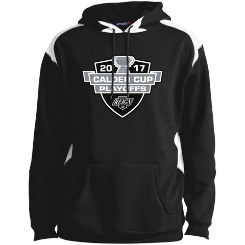 Ontario Reign Adult 2017 Calder Cup Playoffs Shoulder Colorblock Pullover Hoodie