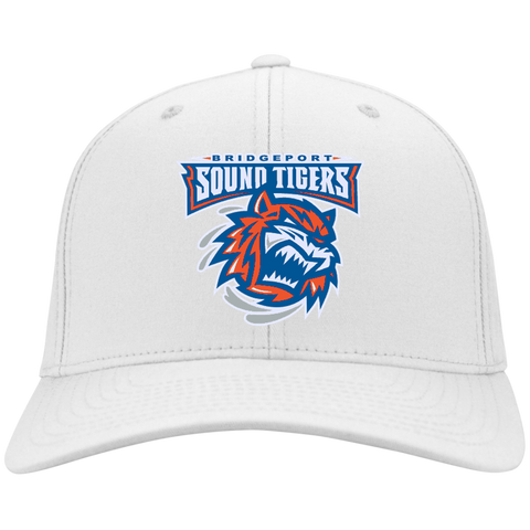 Bridgeport Sound Tigers Flex Fit Twill Baseball Cap