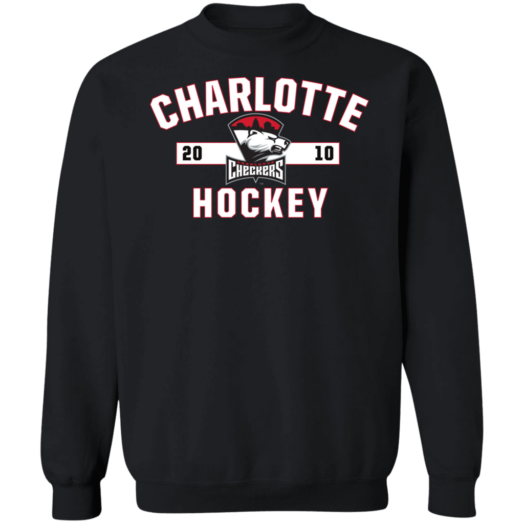 Charlotte Checkers Adult Established Crewneck Pullover Sweatshirt