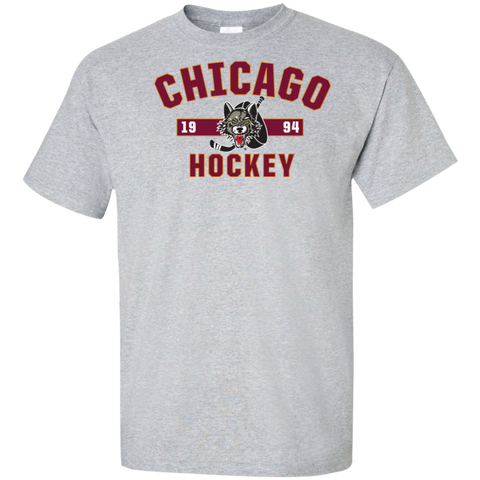 Chicago Wolves Adult Established Tall Ultra Cotton T-Shirt