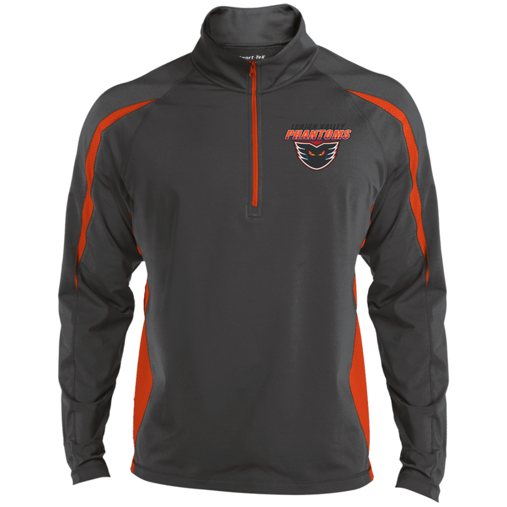 Lehigh Valley Phantoms Mens Sport Wicking Colorblock Half-Zip