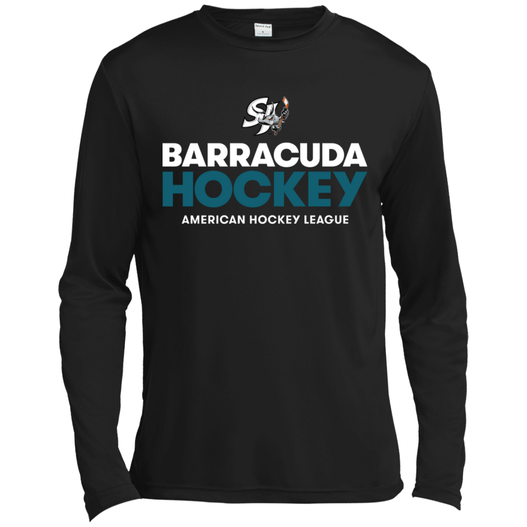 San Jose Barracuda Hockey Primary Logo Long Sleeve Moisture Absorbing T-Shirt