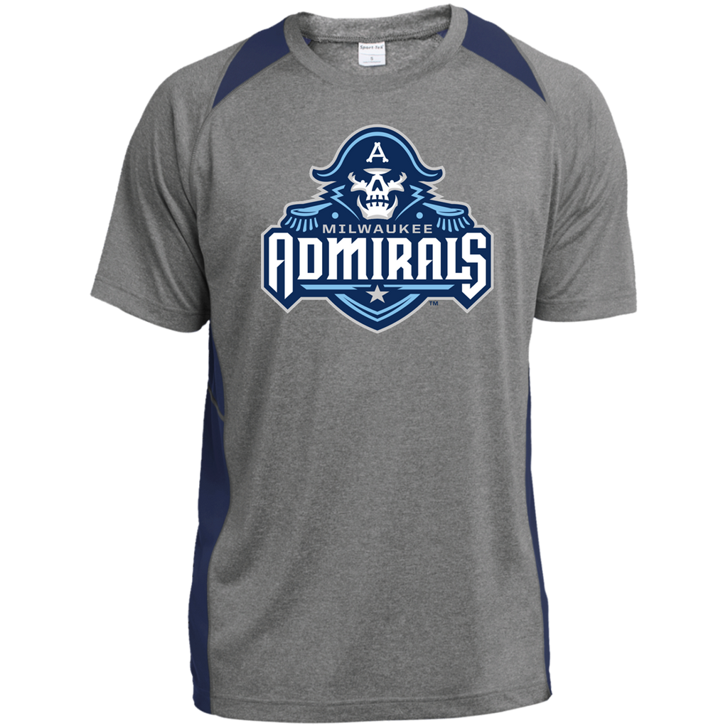 Milwaukee Admirals Printed Heather Colorblock Poly T-shirt