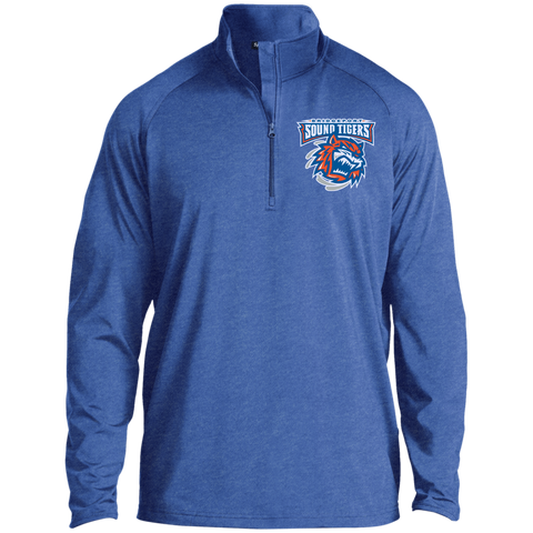 Bridgeport Sound Tigers Half Zip Raglan Performance Pullover