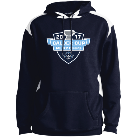 Milwaukee Admirals Adult 2017 Calder Cup Playoffs Printed Shoulder Colorblock Pullover