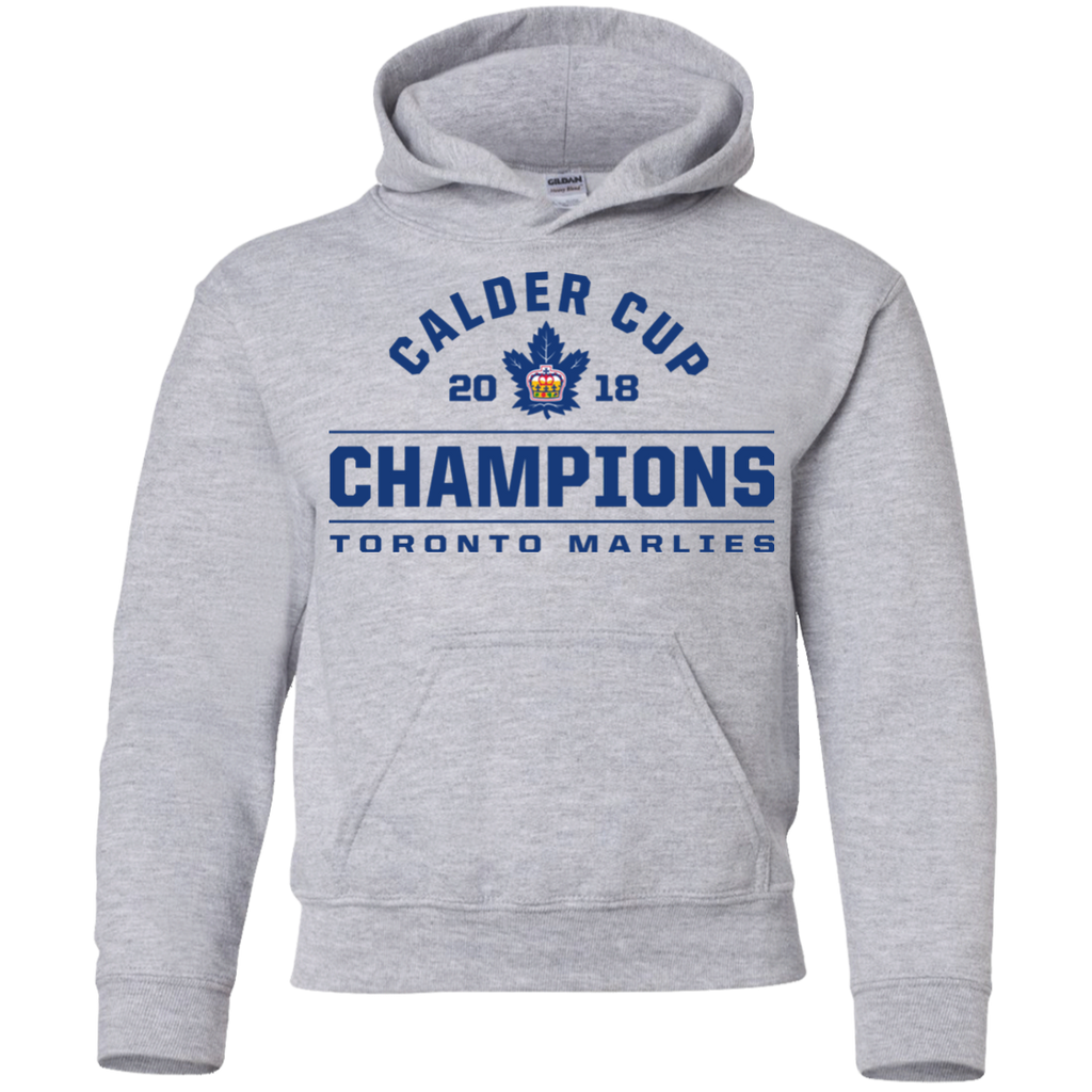 Toronto Marlies 2018 Calder Cup Champions Arch Youth Pullover Hoodie