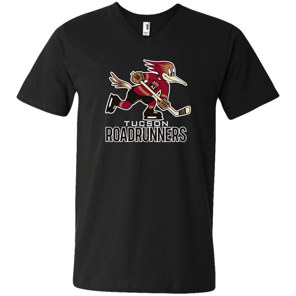 Tucson Roadrunners Primary Logo V-Neck T-Shirt (Black)