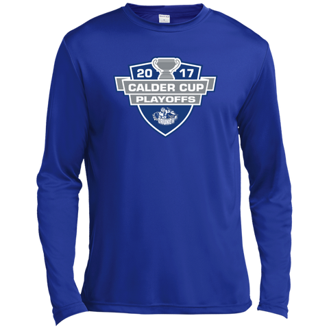 Syracuse Crunch Adult 2017 Calder Cup Playoffs Long Sleeve Moisture Absorbing Shirt