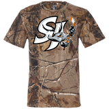 San Jose Barracuda Primary Logo Short Sleeve Camouflage T-Shirt