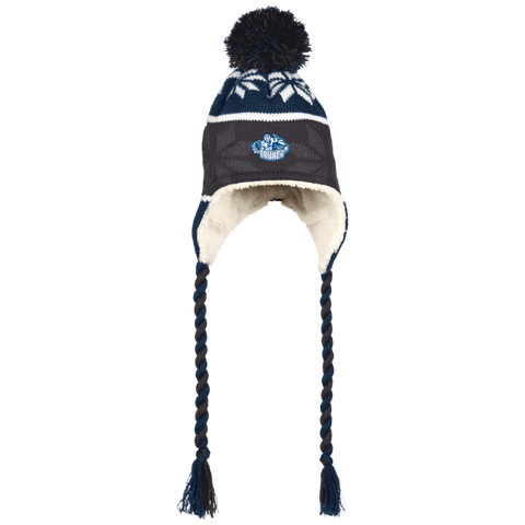 Syracuse Crunch Winter Hat with Ear Flaps and Braids