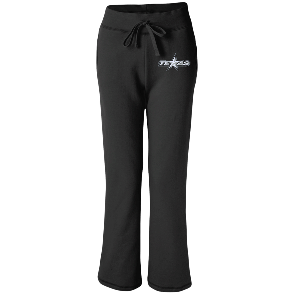 Texas Stars Women's Open Bottom Sweatpants with Pockets