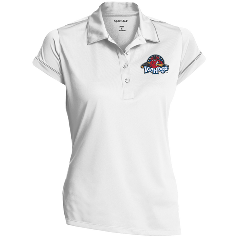 Rockford IceHogs Ladies' Contrast Stitch Performance Polo