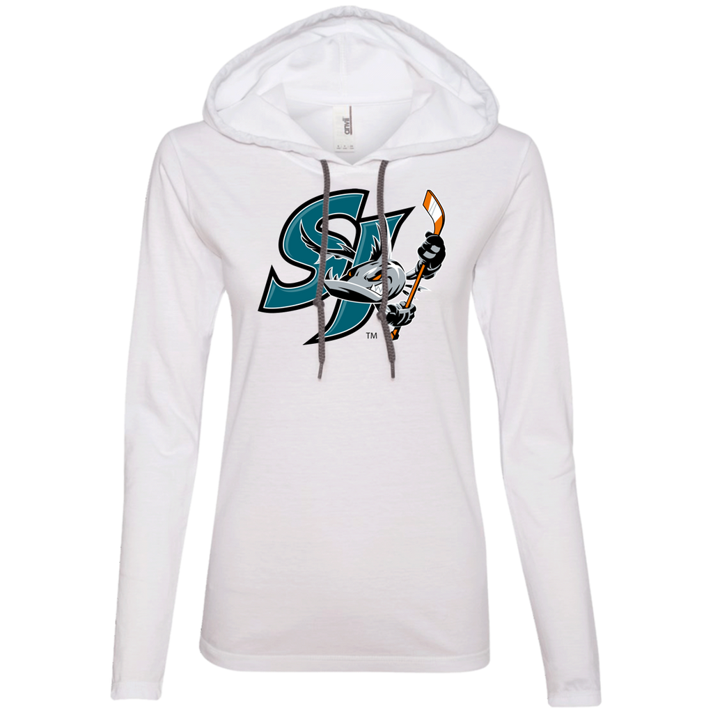 San Jose Barracuda Primary Logo Ladies' Long Sleeve T-Shirt Hoodie