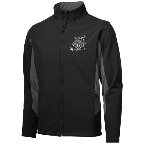 Chicago Wolves Adutl Colorblock Soft Shell Jacket