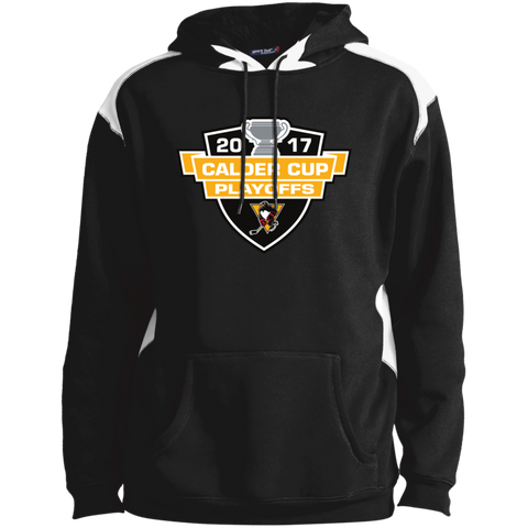 Wilkes-Barre/Scranton Penguins Adutl 2017 Calder Cup Playoffs Shoulder Colorblock Pullover Hoodie