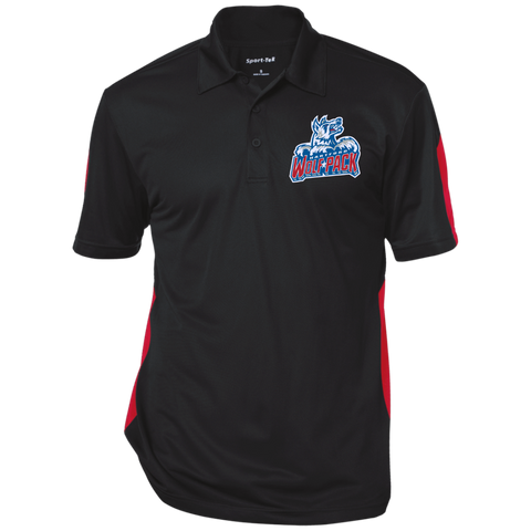 Hartford Wolf Pack Performance Textured Three-Button Polo