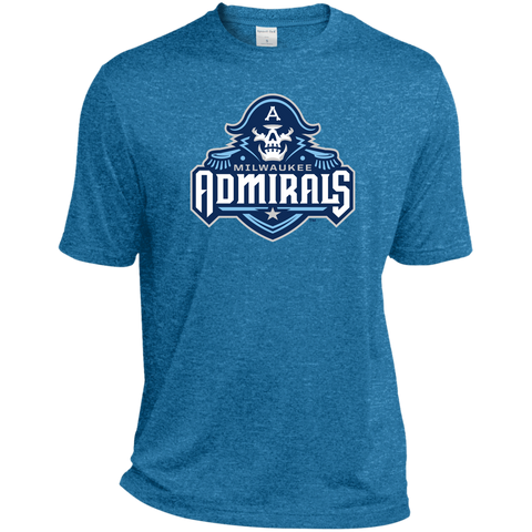 Milwaukee Admirals Primary Logo Tall Heather Dri-Fit Moisture-Wicking Tee