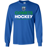 Utica Comets Hockey Adult Long Sleeve Cotton T-Shirt