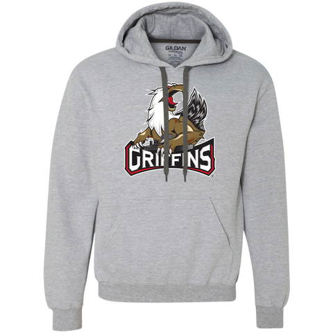 Grand Rapids Griffins Primary Logo Adult Heavyweight Pullover Fleece Sweatshirt