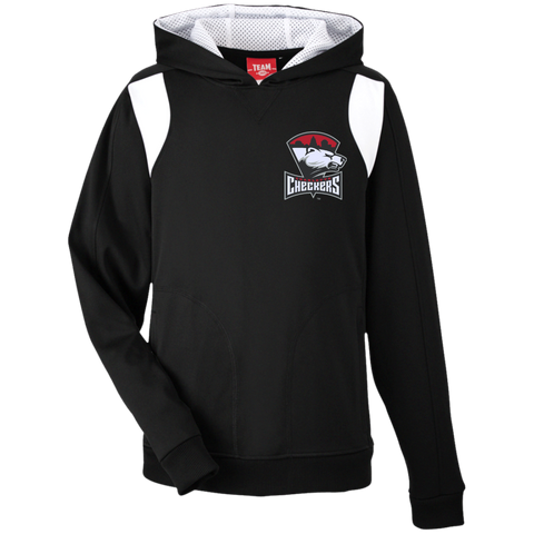 Charlotte Checkers Team 365 Youth Colorblock Poly Hoodie