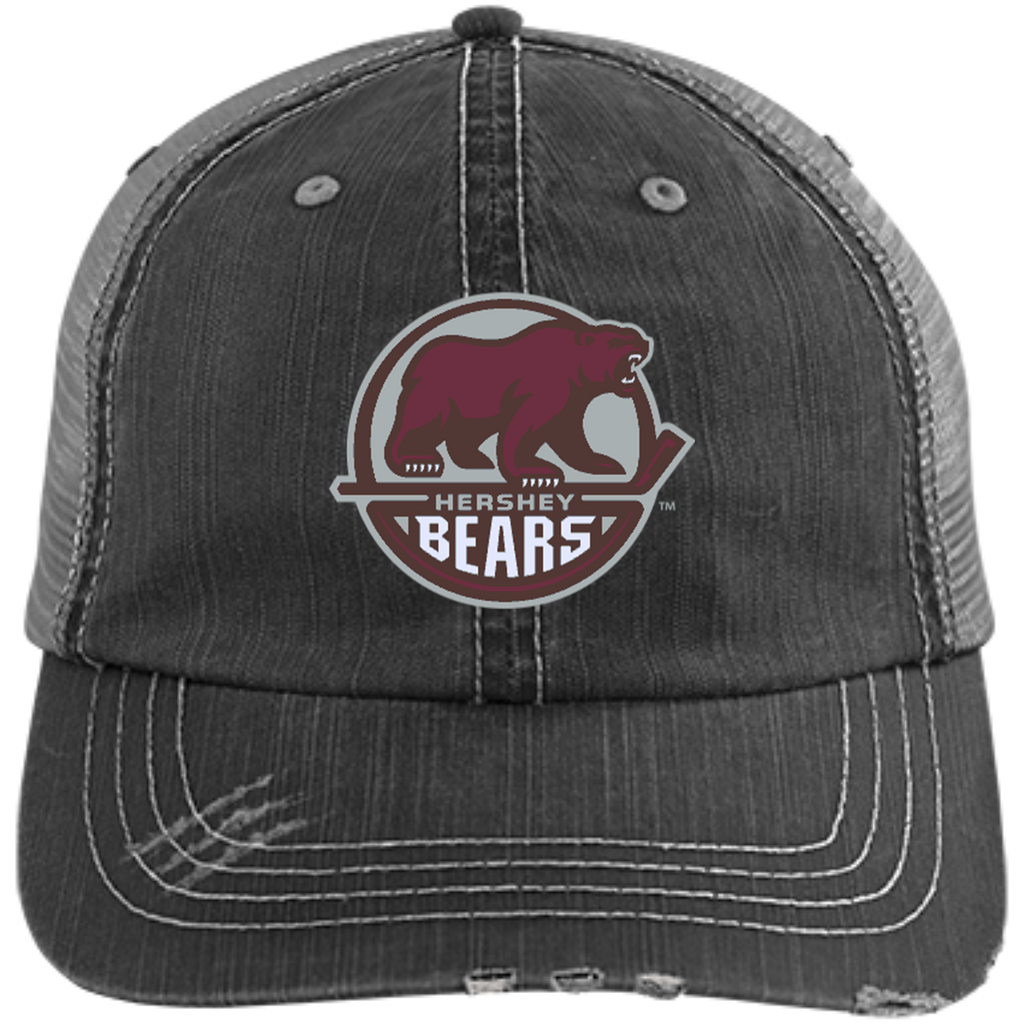 Hershey Bears Distressed Unstructured Trucker Cap