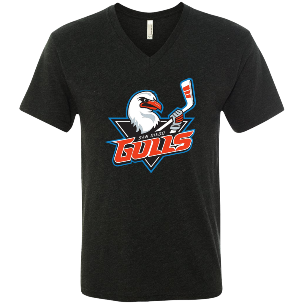 San Diego Gulls Primary Logo Men's Next Level Triblend V-Neck T-Shirt