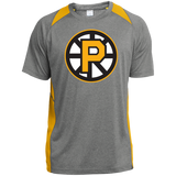 Providence Bruins Adult Heather Colorblock Poly T-Shirt