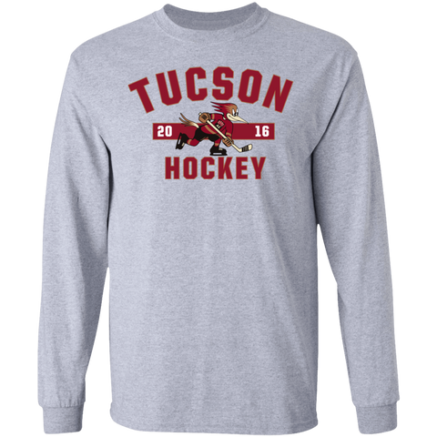 Tucson Roadrunners Adult Established Long Sleeve Cotton T-Shirt