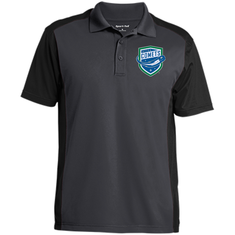 Utica Comets Men's Colorblock Sport-Wick Polo