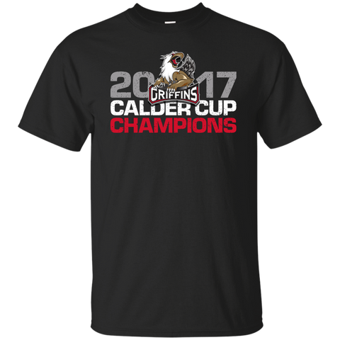 Grand Rapids Griffins 2017 Calder Cup Champions Distressed Youth T-Shirt (black)