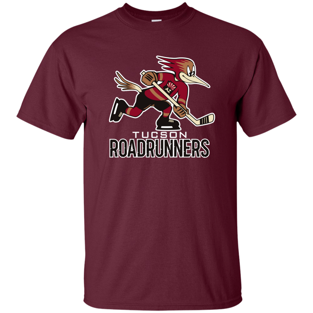Tucson Roadrunners Primary Logo Youth Short Sleeve T-Shirt (Maroon)